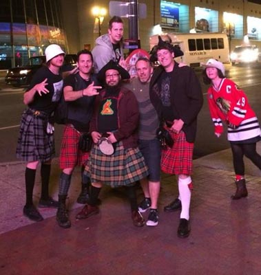 The California Celts with some of our fans